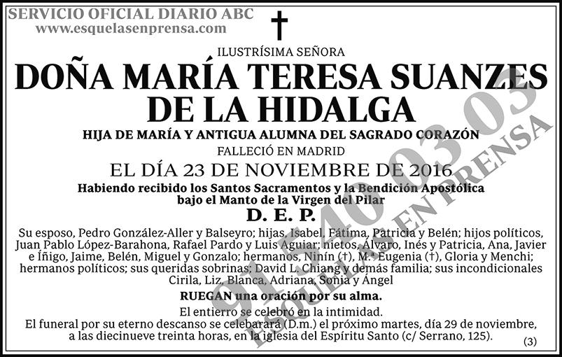 María Teresa Suances de la Hidalga